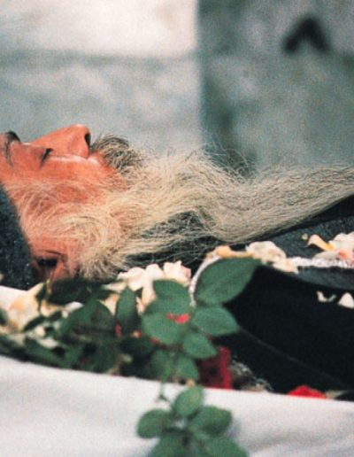 Bhagwan's body, January 1990