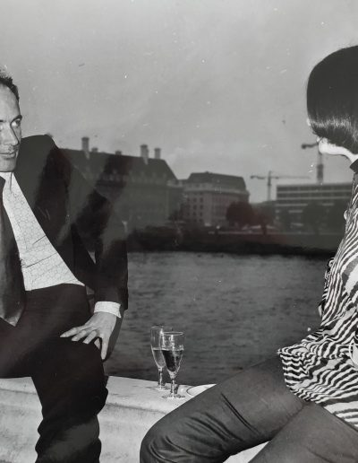 At a cocktail party on the Palace of Westminster terrace, circa 1973