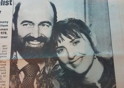 Front page news: my wedding, Dec 1982