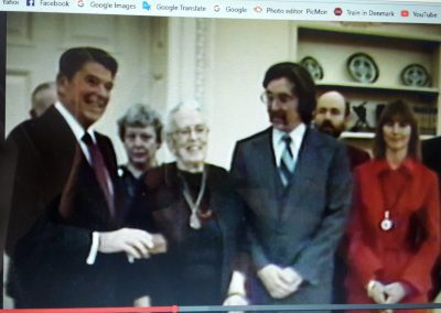In the White House with Ronald Reagan, 1984