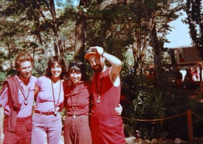 With friends on the Ranch, Oregon, 1984