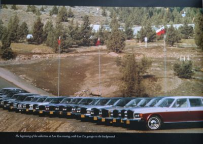 Rolls Royces lined up on the Ranch, Oregon, 1982