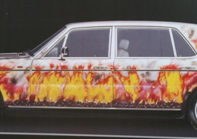 "Rolls Royce custom paint job: ""The Flame Car"""